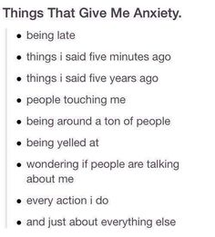 Anxiety #storyofmylife