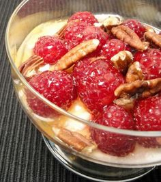 Cherries in Almond Syrup Over Greek Yogurt #food   A Moment on the ...