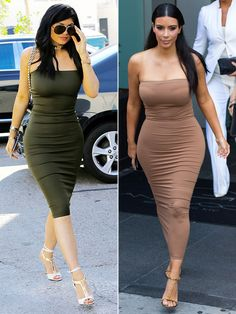B**ch Stole My Style! Who Wore It Better kim kardashian vs kylie jenner? Kylie Jenner Look Alike, Kim Kardashian Kylie Jenner, Kendall And Kylie Jenner, Fashion Face, Star Fashion, Fashion Outfits, Women's Fashion, Kily Jenner, Corset