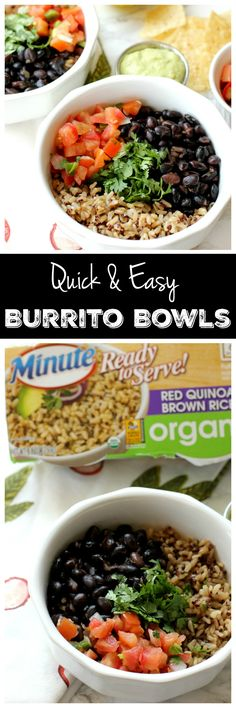 #AD These burrito bowls aren't just delicious, they're SO EASY. You'll literally have lunch ready in 15 minutes flat, I promise! Plus, you'll want to eat the avocado lime sauce off a spoon. @minutericeus