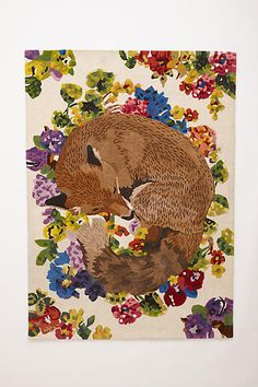 Cute! - Silent Fox Rug - anthropologie.com