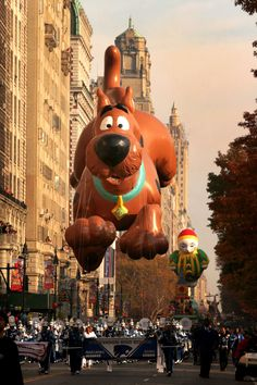 A Scooby Doo balloon floats during the 81st annual Macy's Thanksgiving Day Parade on November 22, 2007 in New York City. My favorite balloon.