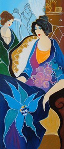 "Limited Edition Print ""Flower Lady"" by Itzchak Tarkay"