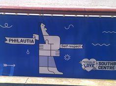 Philautia: self-love. Alongside the Thames River in London, Summer 2014