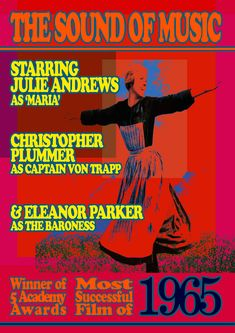 A Pop Art/Psychedelic reinterpretation Christopher Plummer, Julie Andrews, Psychedelic, Art Work, Pop Art, 1960s, Nostalgia, Film, Artwork