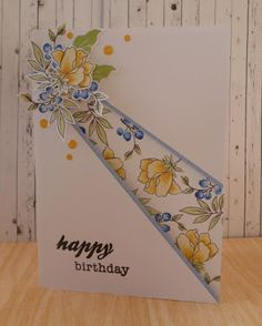 Handcrafted by Helen: Peony bouquet recessed panel card