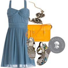 Lovely Lakeside Lunch Dress