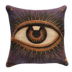 I pinned this Third Eye Pillow from the Global Inspiration event at Joss and Main! Burlap Throw Pillows, Owl Pillows, Accent Pillows, Burlap Fabric, Rug, Gothic House, My New Room, Third Eye, Joss And Main