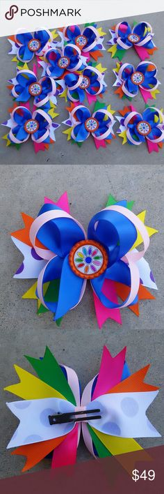 Daisy girls scout hair bows 10 pcs Can custom made for your team Accessories Hair Accessories