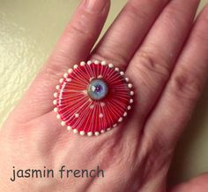 jasmin french ' jelly ' RINGTOP lampwork bead by jasminfrench