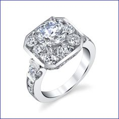 #HugeDiamonds in the #MostUnique #HaloStyle #EngagementRing you will find. http://www.bloomingbeautyring.com/new-ring-designs/