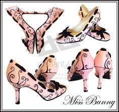 Black Swirl Shoes. by miss-bunny-shoes.deviantart.com on @deviantART