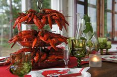 Crayfish party, #party, #tablesetting, #crayfish