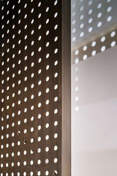 Perforated steel and pavement lights let the sun pierce Andy Martin Architecture's London townhouse Georgian Townhouse, London Townhouse, Interior Walls, Interior Design, Steel Material, Pavement, Ground Floor, Blinds, Wall Lights