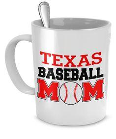 Texas Baseball Mom Mug