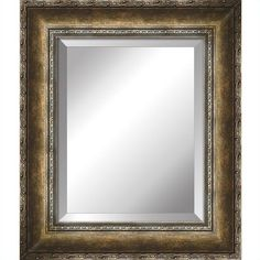 Yosemite Mirror with Antique Gold Finished Frame. USD $48