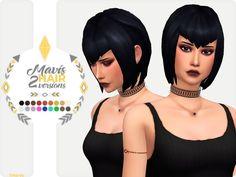 Sims 4 Hairs ~ The Sims Resource: Mavis Dracula Hair by Nords Sims 4 Cc Packs, Sims 4 Mm Cc, Maxis, Vampire Hair, Sims 4 Anime, Pelo Sims, Sims Hair, Sims 4 Update, Sims 4 Cc Finds