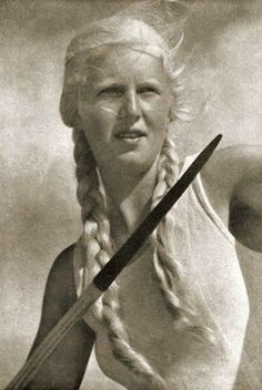 Aryan Spear Woman  Nazi German Athlete Actress from a Leni Riefenstahl film.  Stylish cinematography and light works, Riefenstahl Style!      Aryan Woman  Nazi German Athlete Actress from a Leni Riefenstahl film.