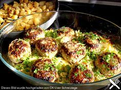 Bulettentopf mit Wirsing dazu Kartoffelpüree