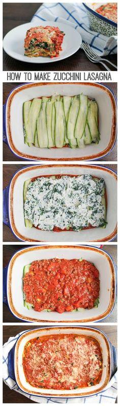 How to Make Zucchini Lasagna