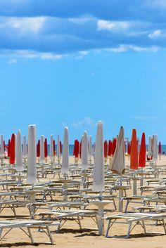 On the Beach in Rimini, Italy