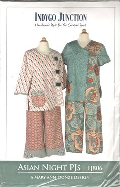 Indygo Junction IJ806 Misses Asian Night PJS Pattern by mbchills