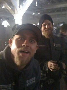 Charlie/Jax Teller and Ryan Hurst/Opie Winston... Sons of Anarchy, boys-i-love