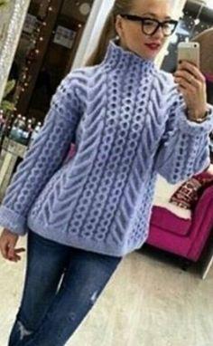 Схемы для вязания свитера спицами