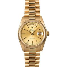 Rolex Day-Date 18038 Watch, 36mm ❤ liked on Polyvore featuring jewelry, watches, rolex, rolex watches, rolex jewelry and rolex wrist watch