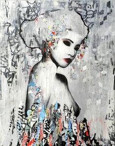 Graffiti Geisha by HUSH via: crossconnectmag #AsianInspiredArt #Yellowmenace