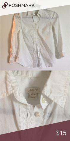White jcrew factory button up White jcrew factory button up. Size xxs J.Crew Factory Tops Button Down Shirts