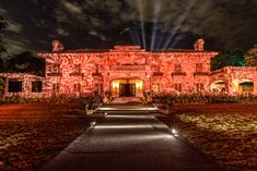 Hallmark Valentine's Day-inspired Event: Kinetic Lighting bathed the Tournament House in softly swirling patterns reminiscent of roses.