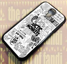 Arctic Monkeys Art Lyrics For Samsung Galaxy S4 Black Rubber Case