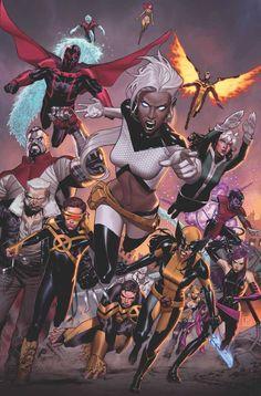 Extraordinary X-Men #17 by Jorge Molina *