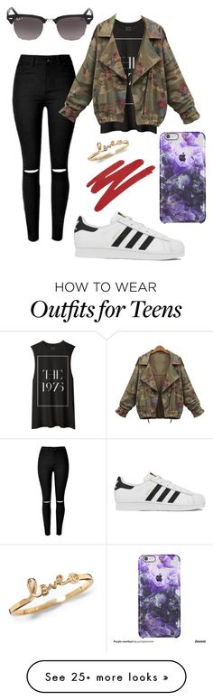 """""""-The 1975-"""" by eemaj on Polyvore featuring moda, adidas, Ray-Ban, NARS Cosmetics, women's clothing, women, female, woman, misses y juniors"""