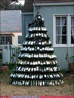 Wine Bottle Tree blissjunky