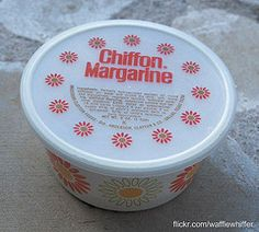 Chiffon Margarine - 1970s: Tastes like butter, but it's not...It's Chiffon.