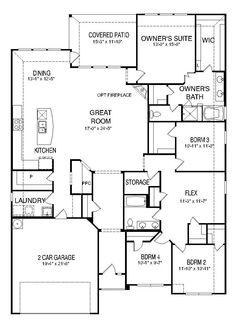centex claypool floor plan:great layout! | dream house plans
