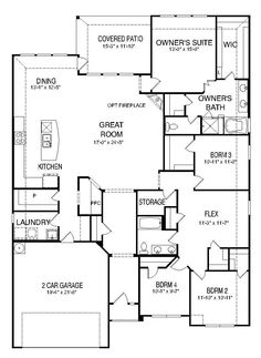 Large one story floor plan Great layout love the flow through