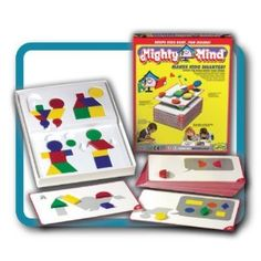 I really love Mighty Minds. For those that really enjoyed using Melissa and Doug pattern puzzles, this takes things to the next level. This is an award winning product. It incrementally increases in difficulty, Really great educational toy that builds visual, spatial, analytical, and problem solving skills. Excellent grounding for early math. Good for ages 3 and up. Highly recommend.