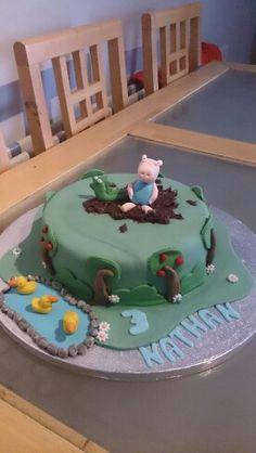 George pig cake peppa pig