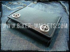"""Stiletto"" 4"" Custom Handmade Leather Biker Wallet"