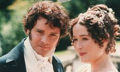 "Darcy and Lizzie - 1995 tv adaptation of Pride and Prejudice. ""Now be sincere; did you admire me for my impertinence?""  ""For the liveliness of your mind, I did."""