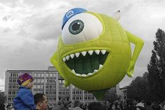 Mike (Hot Air Balloons by Unknown) #MonstersInc