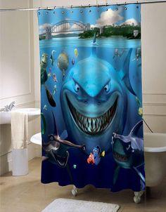 Finding Nemo shower curtain customized design for home decor #showercurtain #showercurtains #shower #curtain #curtains #bath #bathroom #home #living #homeliving #cutecurtain #funnycurtain #decorativeshowercurtain #decoration