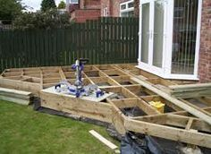 small decking ideas, doesn't need to be a square