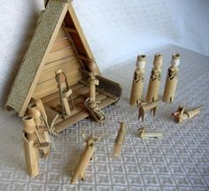 Indonesia  203. Bamboo Nativity with Stable - World Nativity
