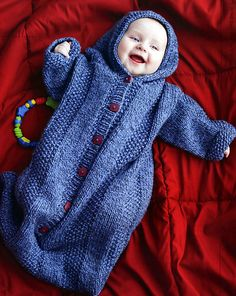 Ravelry: Cozy Hooded Sleeping sack pattern by Faina Goberstein