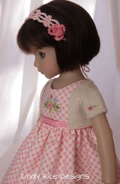 """Rosy Soft Spring"", made for Dianna Effner's Little Darling dolls, cindyricedesigns.com ."