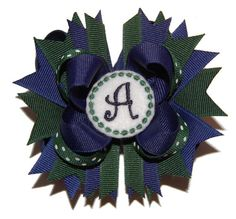 Toddler Sized School Uniform Custom Embroidered Boutique Bow by bowsalamode on Etsy